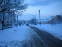 látképek hóesésben