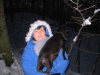 Téli séta és szánkózás a falu körül